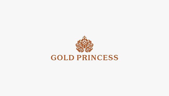 GOLD PRINCESS 泰国皇家化妆品品牌商标设计