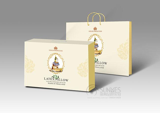 GOLD PRINCESS 泰国皇家乳胶枕仪包装设计