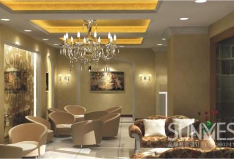 淘金路美容院休息厅设计