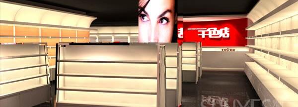 千色店化妆品SI展柜设计