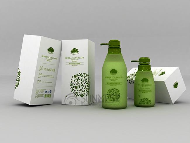 柏束天然有机沐浴露洗发水瓶型外包装设计案例