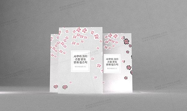 卡丝兰黛樱花口红包装设计